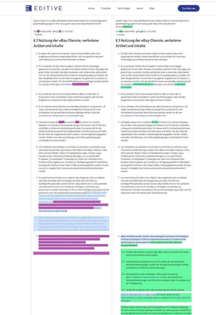 EDITIVE AGB Textvergleich