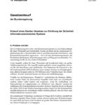 IT Sicherheitsgesetz 2.0 Gesetzesentwurf der Bundesregierung vom 25.01.2021